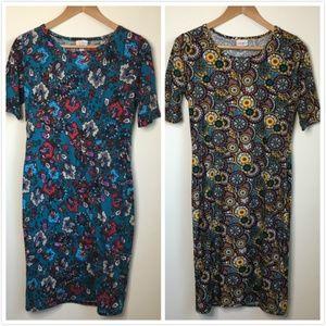 Bundle of 2 pc LuLaRoe Julia Floral Print Dress